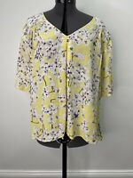 Anna Glover For H&M Yellow T Shirt/Blouse Size 10 EUC