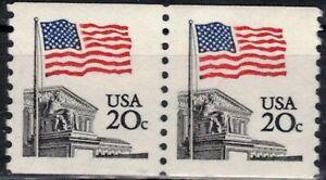 USA 1981 Sc1895 MNH 1 Pair Definitive,Flag,Coil