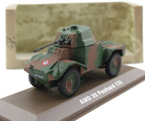 New 1/43 Scale French Army AMD 35 Panhard 178 Armored Car Metal + Plastic Model