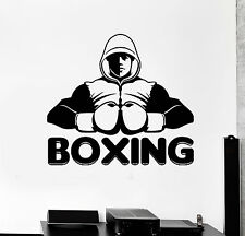 Vinyl Wall Decal Boxing Club Word Boxer Sports Stickers Mural (ig4528)