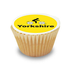 15 x Yorkshire Cycling Pre Cut Cupcake Toppers Premium Quality Sugar Icing Sheet