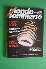 Magazine MONDO SOMMERSO N. 220 DEL 1978 Rivista internazionale del mare