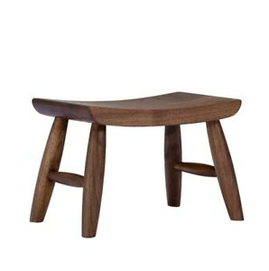 Small Wooden Stool Black Walnut Solid Wood Living Room Furniture Home Ottoman