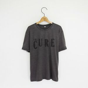 Men's 'The Cure' Distressed Vintage-Style Rock T-Shirt