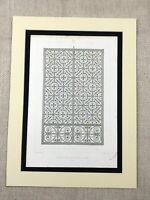 1857 Architectural Engraving Rouen Cathedral France Cast Iron Gate Antique Print
