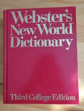 Webster's New World Dictionary Third College Edition Thumb Index 1991 Red