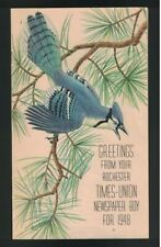 Greetings from Your Rochester Times Union Newspaper Boy 1948 Booklet NY Birds