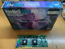 3DFX VOODOO 5 5500 PCI WITH BOX AND ORIGINAL INVOICE FROM 2001