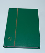 LIGHTHOUSE Hardcover Stamp Album Stockbook With 64 Black Pages Green Ls4/32