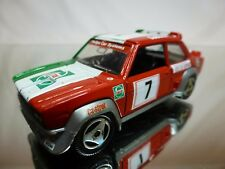 MEBETOYS HOTWHEELS A152 FIAT 131 RALLY - RED WHITE GREEN 1:43 - GOOD CONDITION
