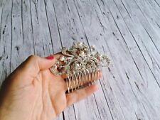 Haarschmuck in Silber mit weißen Zierperlen und Strass Steinen - Brautschmuck