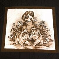 "Biederlack Puppy & Kittens Fleece Throw Blanket - Brown - 47"" x 54"""