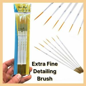 1x-6x Paint Brushes Extra Fine Detail Painting Brush Art Acrylic Oil Watercolor
