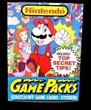 Topps Nintendo Game Packs Box with 48 packs New 1989 Mario