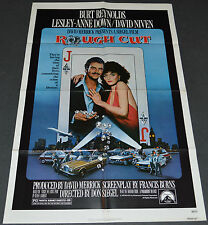 ROUGH CUT 1980 ORIG. MOVIE POSTER! BURT REYNOLDS & LESLY-ANNE DOWN CRIME COMEDY!