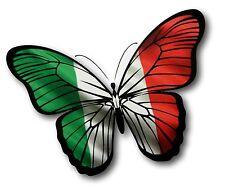 30cm bella farfalla & ITALY ITALIANA IL TRICOLORE BANDIERA AUTO SCOOTER ADESIVO
