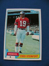 1981 Topps Fred Steinfort Broncos card #262 NFL football $1 S&H