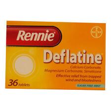 RENNIE DEFLATINE SUGAR FREE MINT TABLETS - 36 *
