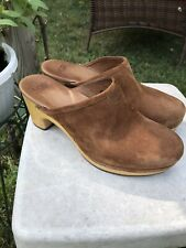 UGG Brown Suede Size 9 Chunky block Clogs