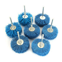 1Pc 80mm 80-600# Abrasive Wire Grinding Flower Head For Wood Furniture Polishing