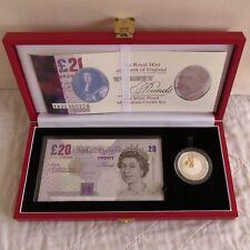 2000 MILLENNIUM BANCONOTA £ 20 + SILVER PROOF £ 5 CORONA Set-Completo