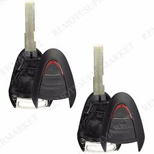 2 Replacement for Porsche 2005-2012 911 2006-2012 Boxster Remote Key Shell Case