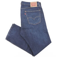 LEVI'S 505 Blue Denim Regular Straight Jeans Mens W36 L30