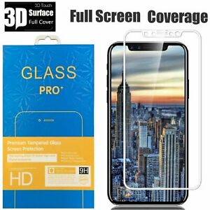 For iPhone 11 Pro Max 11 X XS Max XR Full Cover Tempered Glass Screen Protector