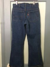 Vtg 70s Levis 646 Blue Jeans Mens 33-32 Denim Pants Talon 42 ZIpper Boot Cut USA