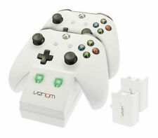 Venom 236928 Xbox One Twin Docking Station with Two Rechargeable Batteries - White