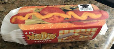 Vintage 4 Pack Hot Dog Trays Hard Plastic/new In Package.