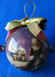 Matrix Holiday Ornament 1996 Barbie Winter Wonderland  Ball Purple Christmas