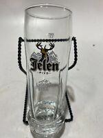 """Jelen Pivo Tall Beer Glass Ledeno Svez 6-3/4"""" Tall"""