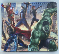 The Avengers Anime Cosplay PU leather Purse Wallet men's kid's Wallet