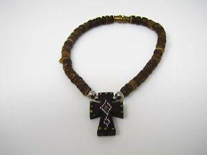 Vintage Christian Bracelet Jewelry: Very Nice Design Painted Cross