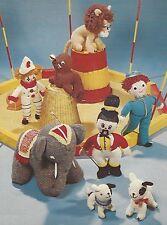 "Toys Knitting Pattern ""Big Top"" Lion Clown Elephant Dog Seal Ringmaster  DK 776"