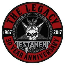 OFFICIAL LICENSED - TESTAMENT - THE LEGACY 30 YEARS ANNIVERSARY SEW ON PATCH