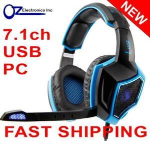 SADES LUNA SA-968 7.1 channel USB PC Gaming Headset Headphones Noise Cancel Mic
