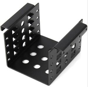 """New 4-Bay HDD  Aluminum Rack 3.5"""" to 2.5"""" SSD/HDD Hard Disk Drive Mount Bracket"""