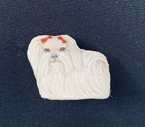 1:12 Dollhouse Vintage Mary Hoot Lovel lhasa apso  Incredibly Detailed Figurine