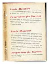 Programme for survival / Lewis Mumford