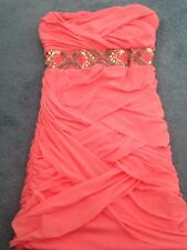 Womens New Elise Ryan Coral Strapless Mini Dress Size 8