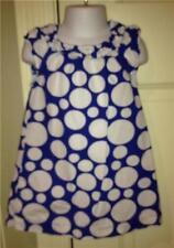 TODDLER GIRLS CHEROKEE BLUE WHITE POLKA DOT SUMMER SUN COTTON DRESS 2T