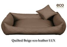 Luxury ECO-LEATHER Comfy Dog bed Cat Pet Sofa Bed Cushion Extra LARGE up to130cm