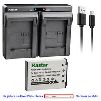 Kastar Battery Dual Charger for Casio NP-70 BC-70L & Casio Exilim Zoom EX-Z250SR