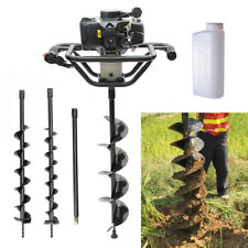 More details for petrol 52cc fence earth auger post hole borer ground drill +auger drill bits set