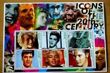 Elvis & Marilyn Icons Of The 20th Century Somalia Republic 2001 Stamp Sheet MNH