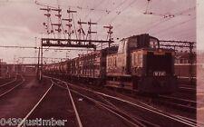 Victorian Railways Diesel W 241 Running Transfer Train into Melbourne Yard 1963