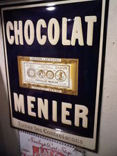 Plaque emaillée au pochoir Chocolat menier Enamel sign