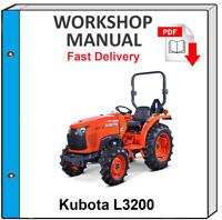 KUBOTA L3200 L 3200 TRACTOR SERVICE REPAIR WORKSHOP MANUAL